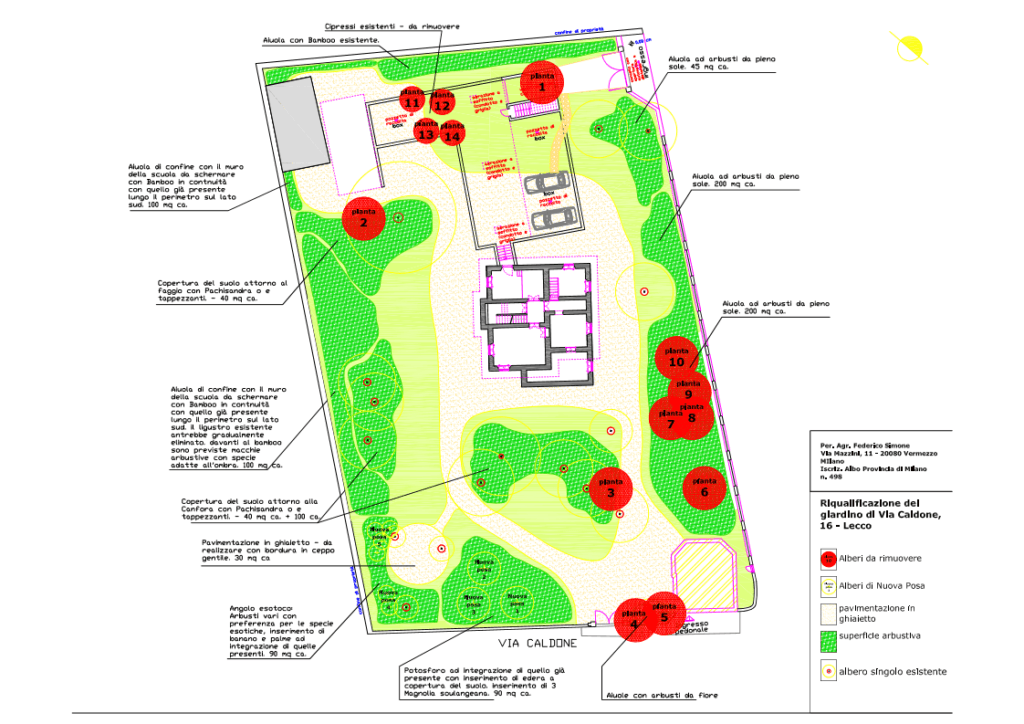 Progetto verde Via Caldone Lecco AGRONOMO Page 1 1024x724 - Progettazione del verde