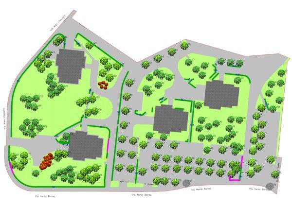 Censimento Borsa 28 30 36 38 rilievo planimetria 600x424 - Piani di manutenzione del verde