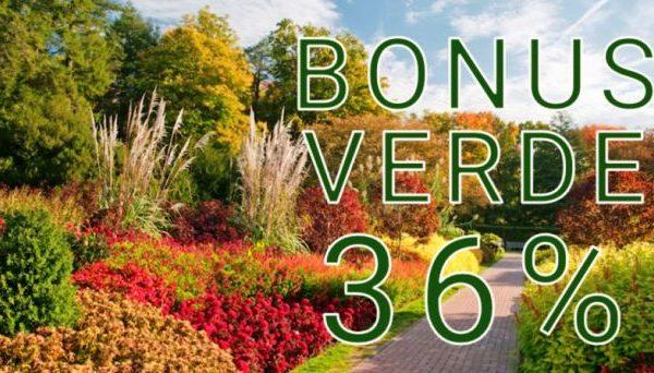 Bonus verde detrazione 36%