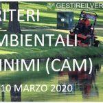 Gestire il verde - CAM DM 10 marzo 2020
